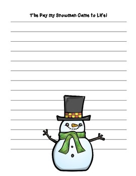 The Day my Snowman Came to Life ~Creative Writing