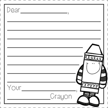 The Day of The Crayons: A Companion Activity