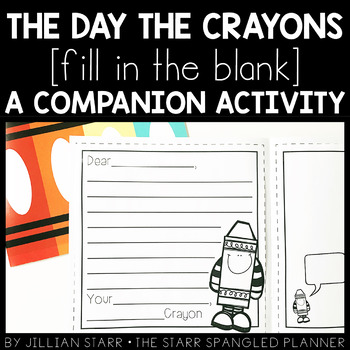 The Day the Crayons Quit: A Companion Activity