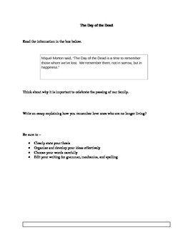 The Day of the Dead Expository Essay