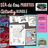 El día de los Muertos Bundle of Activities and PowerPoint in Spanish