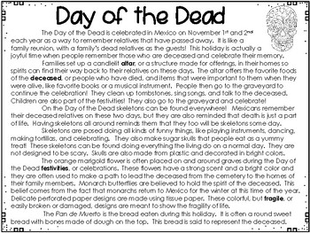 The Day of the Dead - Weekly Reading Passage and Questions