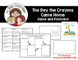 The Day the Crayons Came Home Game and Postcard Writing Activity