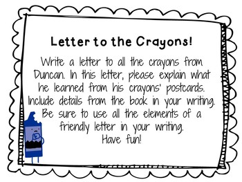The Day the Crayons Came Home by Drew Daywalt:   A Complete Literature Study!
