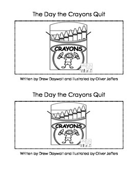 The Day the Crayons Quit Activity