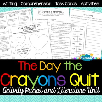 The Day the Crayons Quit Activity Packet & Literature Unit