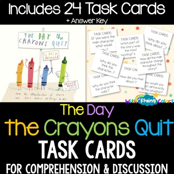 The Day the Crayons Quit Activity (Task Cards)