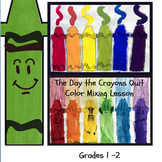 The Day the Crayons Quit Color Mixing Art Lesson