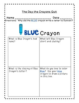 The Day the Crayons Quit Common Core New Book CCSS FUN! You'll love this! Colors