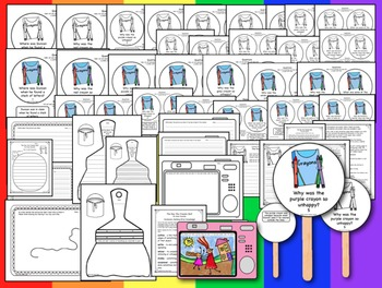 The Day the Crayons Quit - Comprehension Q & A Sticks & Creative Drawing