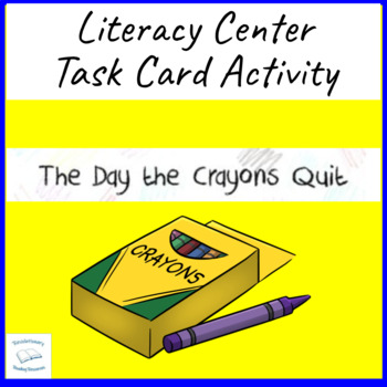 The Day the Crayons Quit Daywalt Literacy Task Center Reading Group Cards