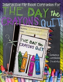 THE DAY THE CRAYONS QUIT READING GUIDE FLIP BOOK COMPANION