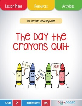 The Day the Crayons Quit Lesson Plans & Activities Package, Second Grade (CCSS)