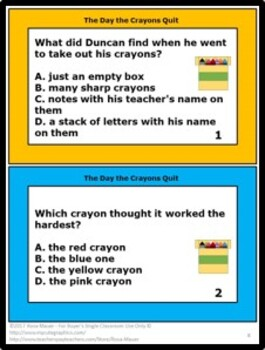 The Day the Crayons Quit Literacy Activities