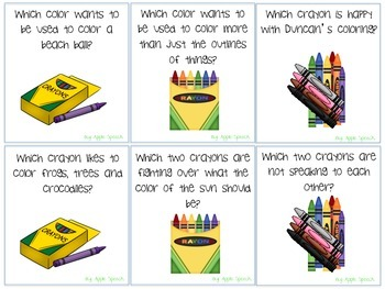 The Day the Crayons Quit Literacy Precursor Activities (Speech Language CCSS)