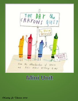 The Day the Crayons Quit Mini Unit