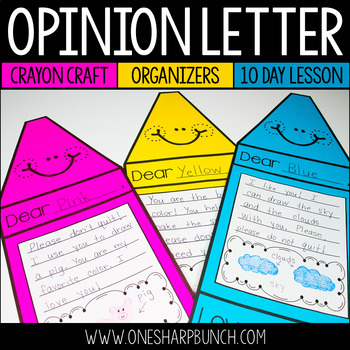 The Day the Crayons Quit - Opinion Writing Crayon Craft