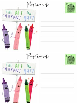 The Day the Crayons Quit Postcard | FREEBIE