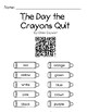 The Day the Crayons Quit QR Code Listening Center w/ Comprehension