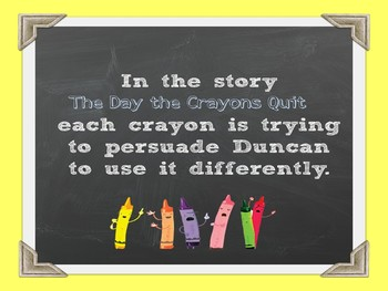 The Day the Crayons Quit Reader's Theater and Read Aloud Lesson