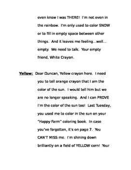 The Day the Crayons Quit Readers' Theater