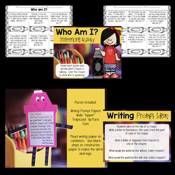 The Day the Crayons Quit Reading Response Activities & Writing Craftivity