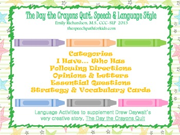 The Day the Crayons Quit: Speech & Language Style