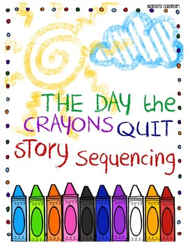 The Day the Crayons Quit Story Sequencing UK & Australian Version