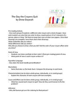 The Day the Crayons Quit – Teaching Literary Skills with Picture Books