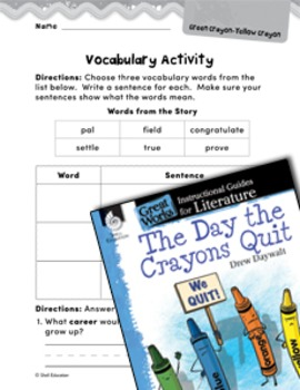 The Day the Crayons Quit Vocabulary Activities