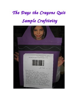 The Day the Crayons Quit Writing Activity--Point of View and Friendly Letter