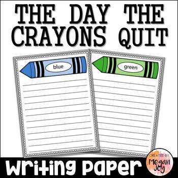 The Day the Crayons Quit Writing Paper