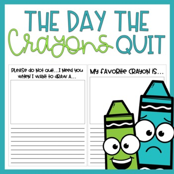 The Day the Crayons Quit / Read Aloud Book Companion