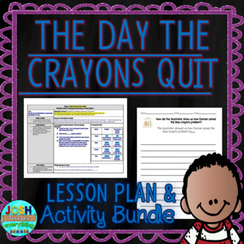 The Day the Crayons Quit by Drew Daywalt 4-5 Day Lesson Plan and Activities