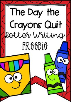 day crayons quit letter teaching resources teachers pay teachers