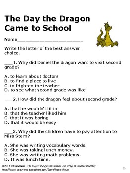 The Day the Dragon Came to School Comprehension Questions