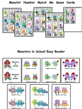 The Day the Monster Came to School Activities