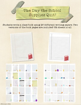 The Day the School Supplies Quit - Class Writing Project
