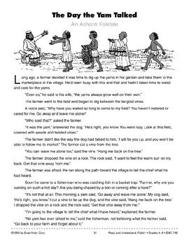 The Day the Yam Talked: An Ashanti Folk Tale