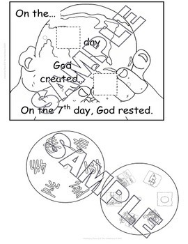 The Days of Creation Story Wheel {FREEbie}