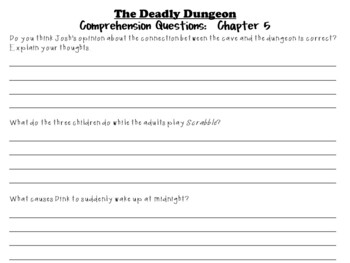 The Deadly Dungeon by Ron Roy:  A Complete Literature Study!