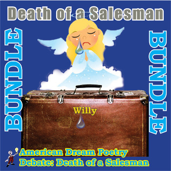Death of a Salesman Fun Activities Bundle- American Dream Poetry & a debate!