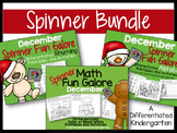 The December Spinner Bundle-Math, Letter/Sounds & Rhyming