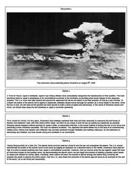 The Decision to Drop the Atomic Bomb (Document Packet)