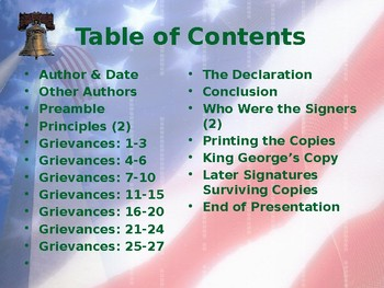Establishing the US Government - The Declaration of Independence