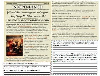 The Declaration of Independence - The American Revolution