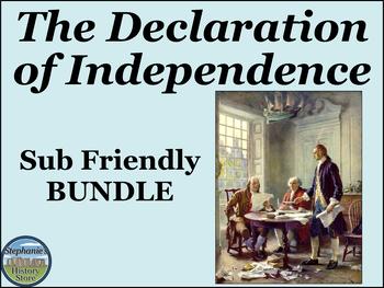 The Declaration of Independence Analysis BUNDLE