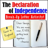 The Declaration of Independence: BREAK-UP LETTER Activity