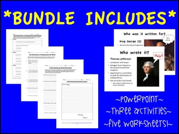 The Declaration of Independence: *BUNDLE* 3 GREAT lessons for one LOW price!