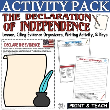 The Declaration of Independence Activities Worksheets & Short Response
